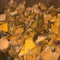 1000 Carat Lots of (SMALL) Yellow Jasper Rough - Plus a FREE Faceted Gemstone