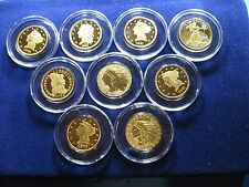 9 PIECE COMMEMORATIVE SET AMERICA'S GREATEST GOLD COINS COPPER GOLD HIGHLIGHTS