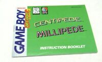 Centipede Millipede Nintendo Gameboy Original Game Instruction Manual Booklet