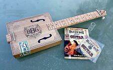 "Electric ""Blues Box"" 3 string cigar box guitar, slide, CD & instruction book"