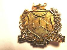 "Vintage WW2,WW11 Era- National War College Pin Medal w/ Lamp Of Knowledge-2 1/4"""