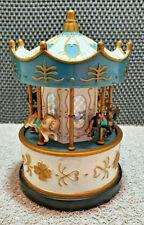 Ancienne Boîte à Musique Carrousel Manège Chevaux Vintage Collection Déco