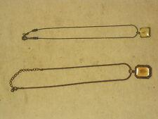 2 x necklace necklaces jewelry jewelery lot copper ? taxidermy leaf Asian best ?