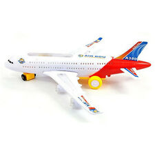 Gifts Toys Plastic Sound Flash Light Electric Airplane Model Airbus A380