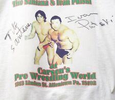 WWF Tito Santana  & Ivan Putski signed Tee Shirt w/COA