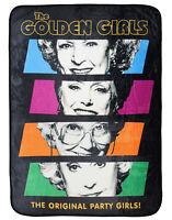 The Golden Girls The Original Party Girls! Character Plush Fleece Throw Blanket