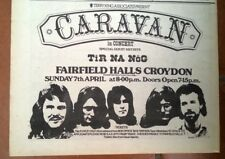 CARAVAN / TIR NA NOG Croydon 1973 UK Press ADVERT 12X8 inches