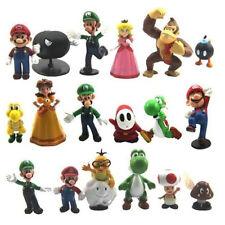 Super Mario Bros Yoshi Luigi Action Collectible Figures Figurines Set of 18 Pcs