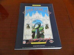 1988 Super Bowl XXII program Washington Redskins vs Denver Broncos nrmt*J.Murphy