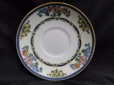 Minton B898, Smooth Edge, Blue Bands, Floral: Saucer (s) Only