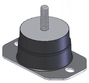 2-Pack: 80x50mm Male M12, Rubber Pedestal Anti Vibration Mount