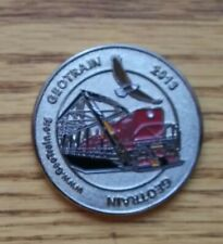 Unactivated Trackable 2013 GeoTrain Event Coin