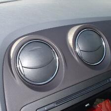 Seat Ibiza 6J Luftauslässe CHROM Dekor Blenden Ringe für Luftdüsen