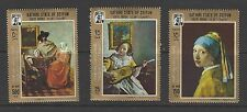 SOUTH ARABIA # M: 160A-162A MLH  FAMOUS PAINTINGS