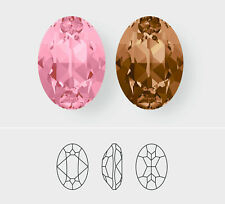 18mm x 13mm | Oval | Swarovski Article 4120 | 3 Pieces - Choose Crystal Color