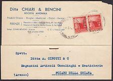 AA4309 Ditta Chiari & Bencini - Firenze - Cartolina Pubblicitaria - Postcard