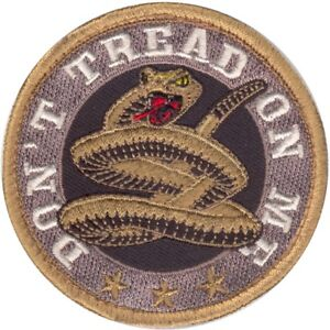 """Don't Tread On Me Morale Snake Patch, Round 3"""""""