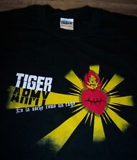 TIGER ARMY En La Noche Como Un Rayo T-Shirt MEDIUM NEW PUNK