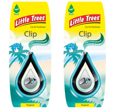 2 x Mirror CLIP Little Magic Tree Car Air Freshener TROPICAL coconut/pineapple