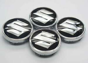 4x 60mm For Suzuki Car Wheel Center Covers Hub Caps Emblems Badges Auto Styling