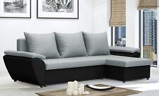 Gray Corner Sofa Bed JACOB  - Brand New - Chep from PRODUCER - Washable Farbic