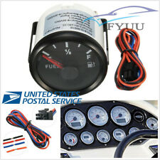 "2"" 52mm Black Face Car Fuel Level Gauge 12/24V 240-33 Ohms Waterproof"