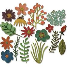 Sizzix Thinlits Dies Por Tim Holtz-Funky Floral #1 662700