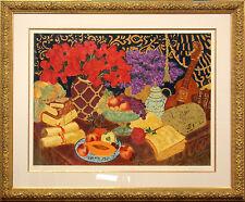"Marisol Bustamante ""Cabochon Blooms"" Hand Signed Serigraph Framed Fine Art, OBO!"