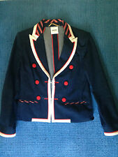 moschino ladies denim red white  blazer size 14 UK