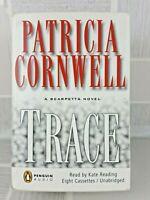 Kay Scarpetta TRACE  Patricia Cornwell 2004 8 Cassette Unabridged TAPES BOX   10
