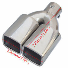 "2.5"" Stainless Steel Inlet Tail Rear Pipe Tip Muffler Cover Universal Accessorie"