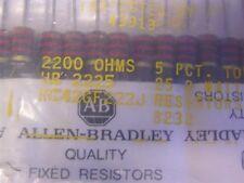 2 Allen Bradley RC42GF222J 2.2K 2W 5% Carbon Comp Resistors