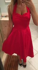 New Nwt Anni Coco Womens Red Pinup Rockabilly Vintage Marilyn  Party Dress S