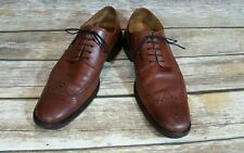Cole  Haan Mens Brown Leather Wingtip Brogue Derby Blucher Oxford Shoes Size 10
