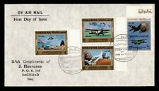 DR WHO 1981 IRAQ FDC AIR FORCE ANIV COMBO  f96274