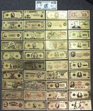 24K Gold Plated Foil Notes Currency Bills $1000 $500 $100 $50 $20 $10 $5 $2 $1