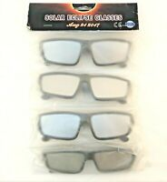 Solar Eclipse Glasses 2017 CE ISO Certified UV400 Sun Light Protection (4 Pack)