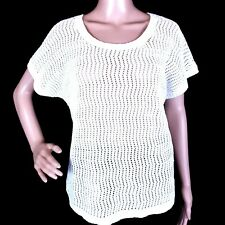 NWT Eddie Bauer Womens Short Sleeve Embriodered V-Neck Knit Top Retail $34.5