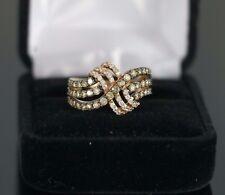 LeVian 14K Rose Gold 1.37ct Chocolate Diamond Princess Alexandra Ring Band