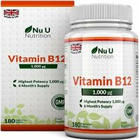 Vitamine B12 1000 µg - Méthylcobalamine - Cure de 6 mois/180 Comprimés - Comp