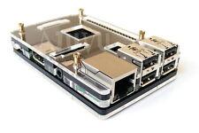 Boitier Transparent Noir pour Raspberry Pi 2 3 Design Acrylique RP2 B B+ RP3 T1