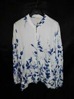 Chico's Size 4 XXL 2X NWT White Blue Floral Print Bomber Soft Jacket Full Zip 20