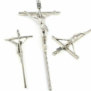 "METAL CRUCIFIX WALL CROSS 6"" God JESUS CHRIST Hanging Religious Christian Gift"