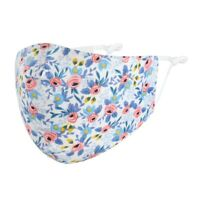 Mund-Nasen-Maske Blumen Blüten 100 %Baumwolle Waschbar