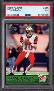 2000 Tom Brady Pacific Football Rookie Card #403 Graded PSA 7 Near Mint (NM)
