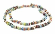 Baby Rondelle Mulitcolor Java Glass Beads