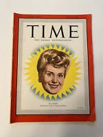 Vintage Time Magazine July 14 1947 -Eva Peron Joe Louis, Joe DiMaggio