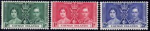 1937 Cayman Island SC# 97-99 - Coronation Issue - M-HR