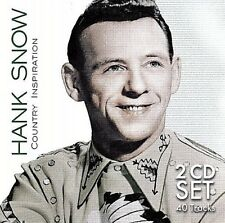 HANK SNOW:  .. 40 ORIGINAL HITS ..  A FOOL SUCH AS I .. (RCA RECORDINGS) 2 CD's