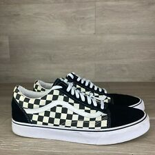 New listing Vans Off The Wall Men's Skate Shoes Black White Checkered Size 12 Sneaker